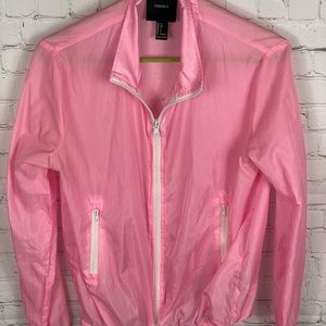 Forever 21 Pink lightweight  jacket size small.